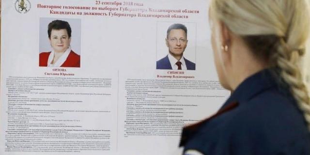 Итоги первого тура выборов в губернаторы Владимирской области 2018 9 сентября