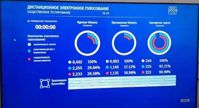 Пример результатов дистанционного голосования