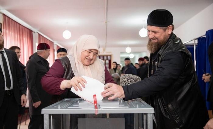 Кадыров на голосовании 2021